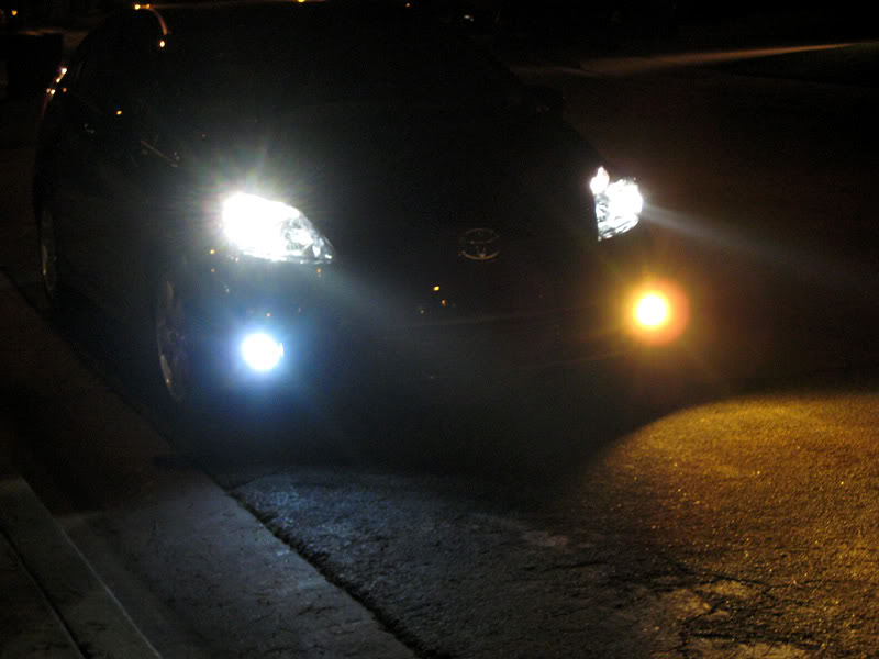 Testing, LED Lights For Cars, H8 / H11 LED Fog Lights Vs. Halogen Yellow  Bulbs