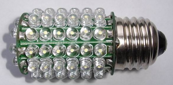 E27, 4W, 80 LEDs pure white floodlight bulbs, 230VAC