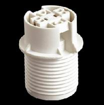 E14 Plastic Lamp holder, with ring and cap