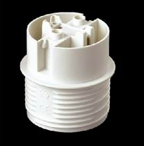 E27 Plastic Lamp holder, with ring and cap