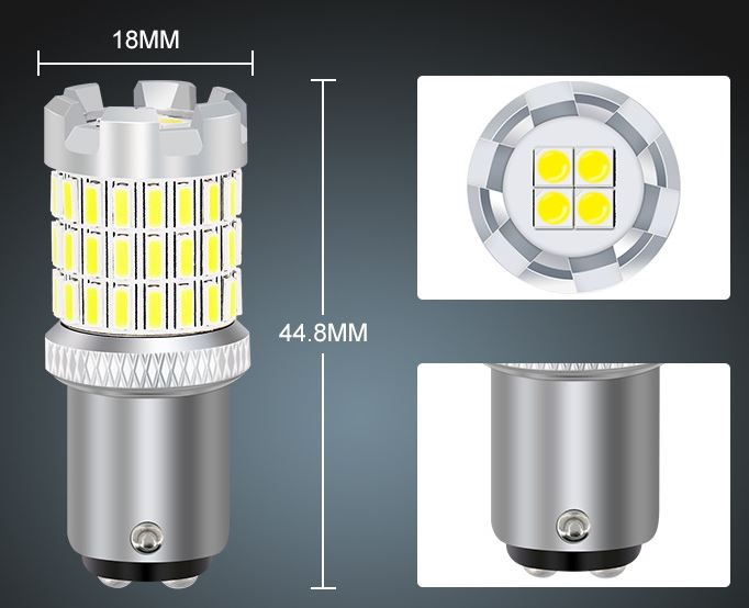 1157 3157 7443 braking light Dual filament 24v 12V car led bulb