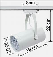 12 watt LED Pin Spot 3-Wire Track Lights