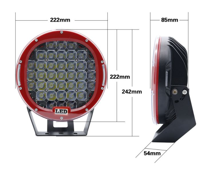 185W 9 Inch Ship LED Searchlight Stainless Steel Bracket