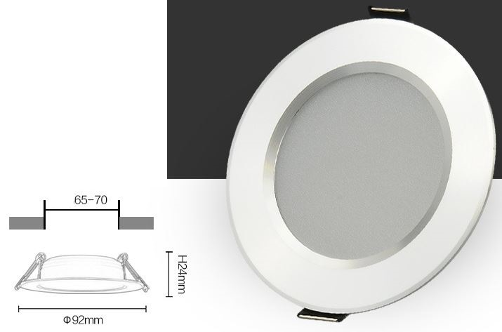 "2.5"" 3W Marine LED Recessed lights, LED Marine Ceiling lights"