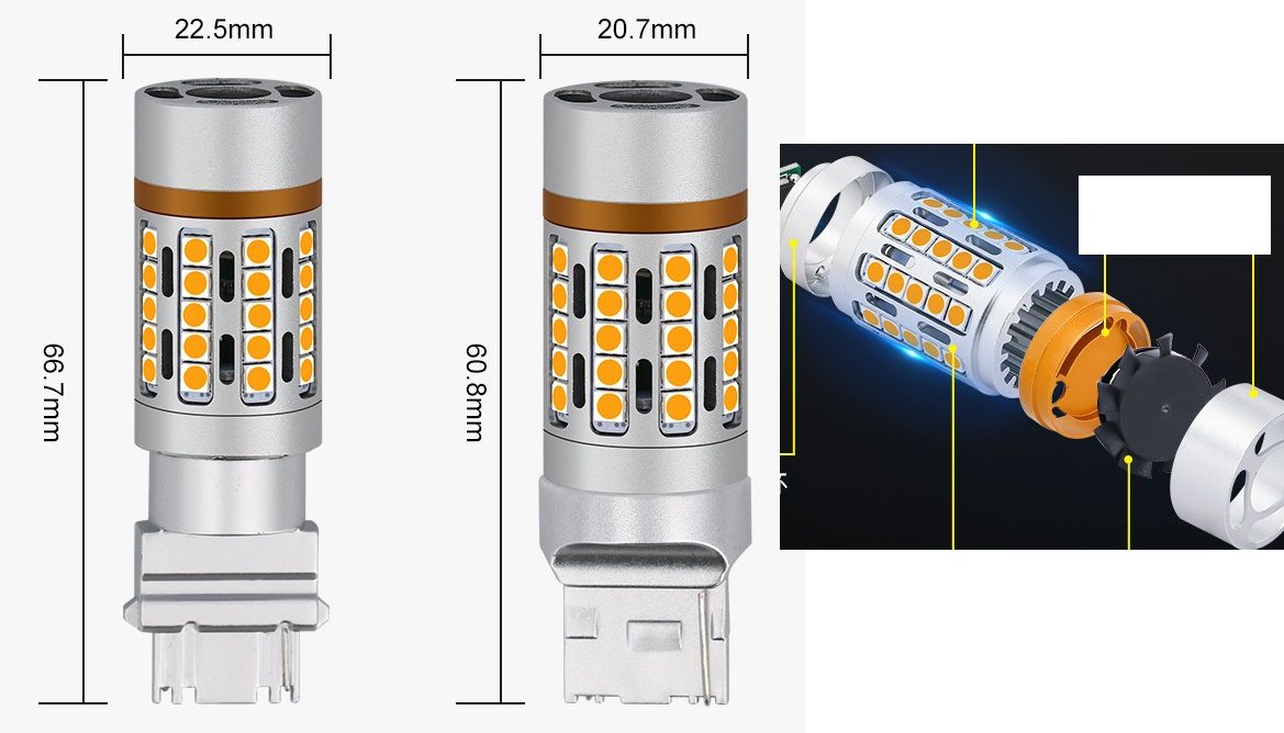 22W 12V car led replacing turn signal bulb with led directly