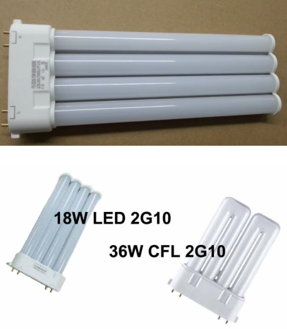 18W 2G10 led bulb GX10q 4 pins led bulb 2G10 36W CFL replacement