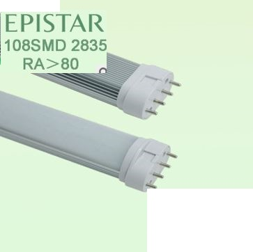 "277V 2G11 LED bulbs, 22W, 21.25"" H type 55 watt CFL replacement"