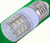 E27, 3W dimmable LED, 31mm case ball w/48pcs 3528 SMD LED