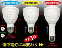 LED Light bulbs/Emergency Lamps/Flash Lights 3 in 1, Warm white