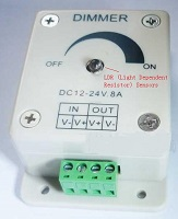 DC12V~24V LDR Sensor,Light control switch,automatic adjust Lux
