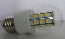 E26, A15 LED Bulb, 5W, 27pcs 5050 SMD LEDs Cool white, AC/DC12V
