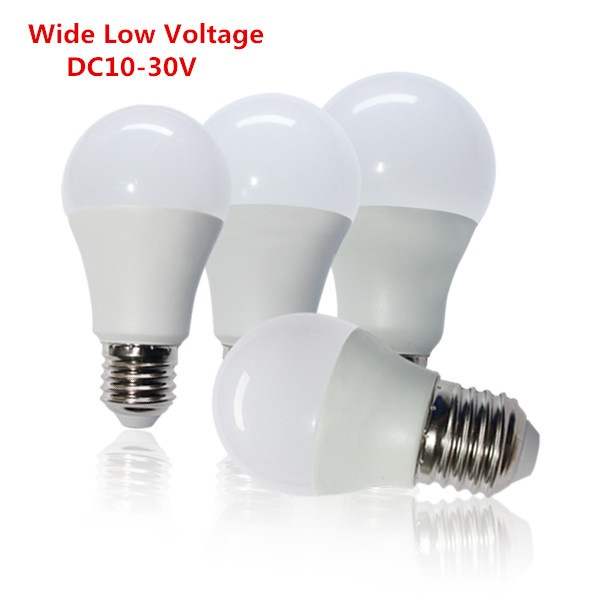 A19 E27 7 watt LED light bulbs Low voltage DC 12V~30V