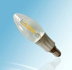 E14, C12, 3W Candle LED Light bulbs, COB filament LED Bulbs