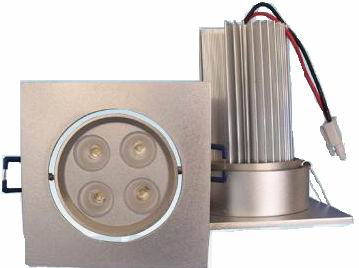 LED downlight 4x3W=12W with Aluminum Fixture