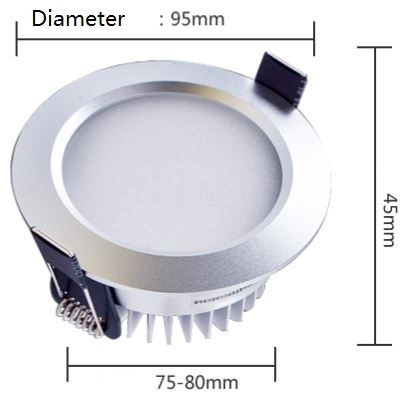"2.5"" LED downlights 5 Watt 0-10V dimmable or DALI led lights"