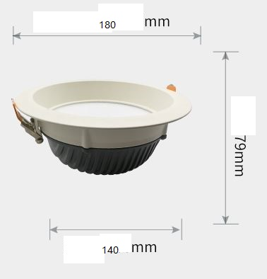 "5"" LED downlights 15 Watt 0-10V dimmer or DALI led lighting"