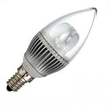 E14, 3W C39 Candle Light bulbs LED, 6 pcs 5630 SMD, AC85~265V