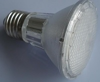 PAR20 LED colorful led light bulbs using 38 leds, E27, AC230V