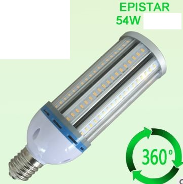 E40, E27 base 54W led light bulbs as CFL replacement