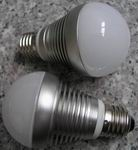 E26/E27, 3x3W Cree LED, 60mm ball dimmable, Warm white, AC230V