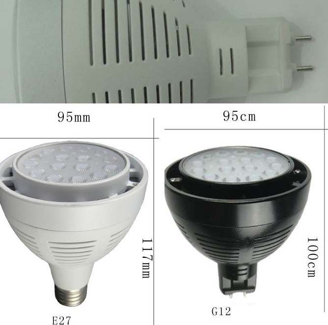 PAR30 35W led bulbs using OSRAM LED chip G12 led GX8.5 led E27