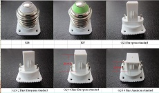 277 volt 8W LED bulbs as CFL replacement E27, G23.GX23, G24 LED