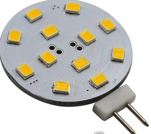 GY6.35 LED 2.21 Watt led lights, 12 pcs 2835 SMD LEDs, DC8~30V