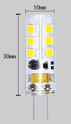 G4 LED light Bulbs 3 watt as 13W halogen bulb replacement
