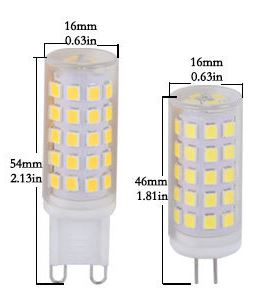 6W Ceramic AC110V G4 LED light Bulb AC 220V G9 LED light Bulb