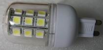 G9, 4.5W LED Bulbs with cover 27 pcs 5050 SMD, Cool white