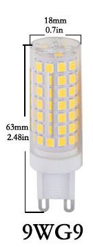 9W Ceramic AC110V G9 LED light Bulb AC 220V G9 LED light Bulb