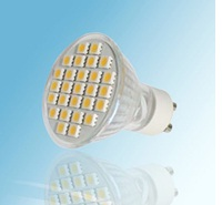 GU10, 4 Watt LED Lights, 27pcs 5050 SMD LED, Warm white, AC120V