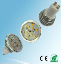 6W GU10 LED house lights, 10pcs 5630 SMD LED, Warm white