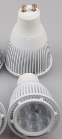 GU10 dimmable led light bulbs, 8 watt, 7 pcs 1 W LED, AC85~265V