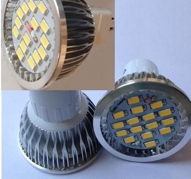 GU10 LED Bulbs MR16 LED bulbs 8 watt, 16 pcs 5730 SMD LED