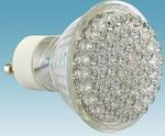 GU20, 63mm cup, 6W, 80 LEDs, Warm white LED Bulbs, 110VAC