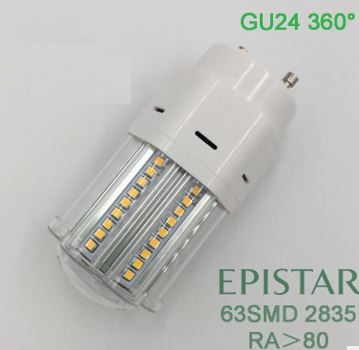277V GU24 LED light bulbs, 10 Watt GU24 LED bulbs w/cover