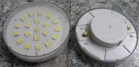 GX53, 3W Cabinet led light bulbs, 20 SMD LEDs, Warm white, 120V