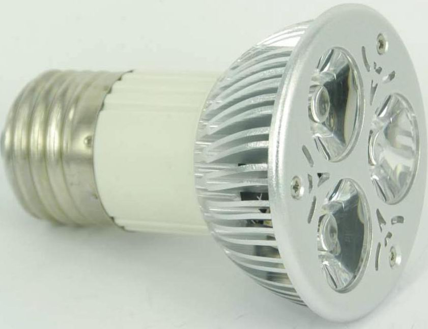 JDR LED light bulb replacement, E27, 3pcs 2W LED, Warm white