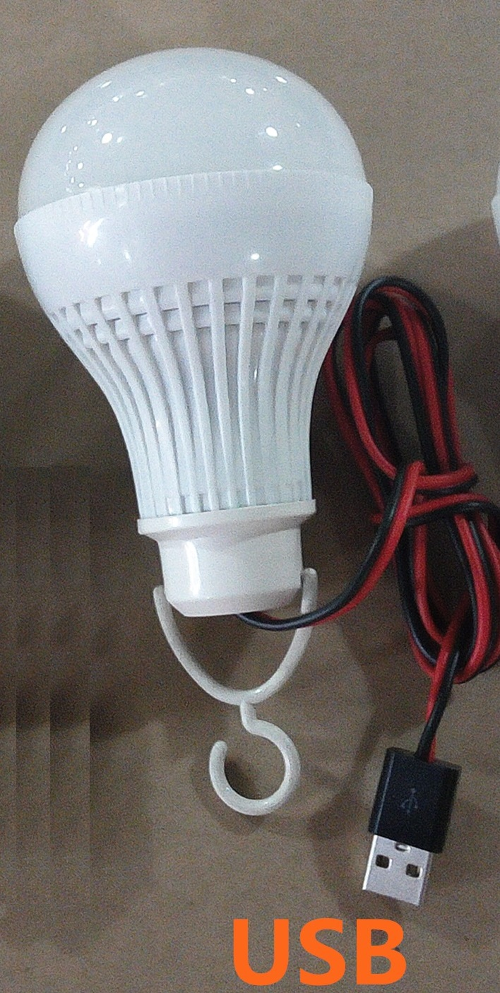 9W USB 5V LED bulbs Lithium batteries used for outdoor lights