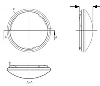 "18 watt 300mm 12"" circular LED Flush mounts ceiling lamp"