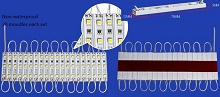 0.544W LED modules for backlight use 3 pcs 5050 SMD LED, 12V
