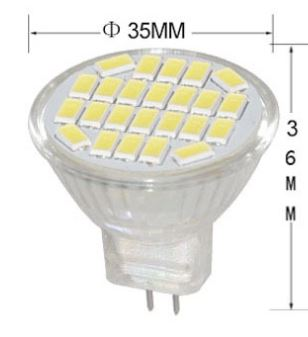 MR11 3 Watt LED spotlights, 12V, AC110V, AC 220V