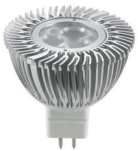MR16, 5 Watt Cree LED, dimmable, Cool white, 12V