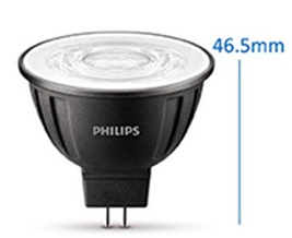 Dimmable 8 watt MR16 Philips LED bulbs AC/DC 12V