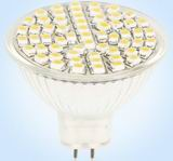 MR16, 3 Watt, 60pcs 3528 SMD LED Floodlight, Warm white 10V~30V