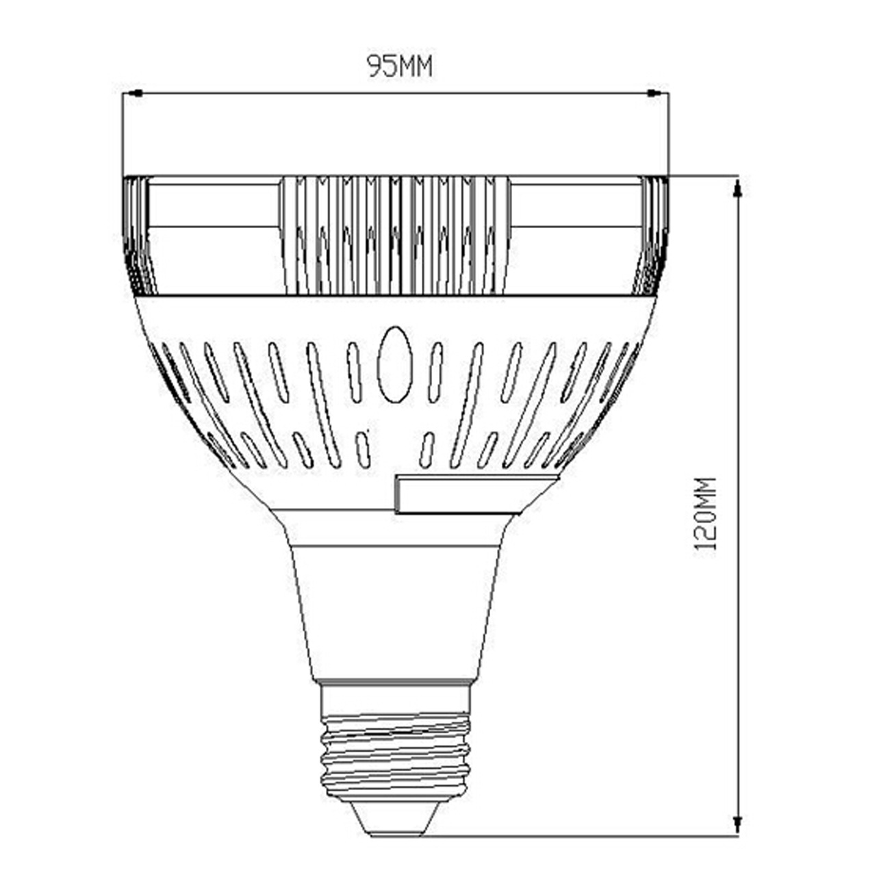 277V PAR30 35 watt led spotlight using OSRAM LED chip