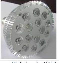 PAR38, E27, LED plant grow Lights, Using 15 pcs 1 W LED, 85~265V