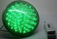 PAR56, 18 Watt LED underwater lights, 351 LEDs, Green color, 12V