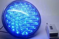 PAR56, 18 Watt LED underwater lights, 351 LEDs, Blue color, 12V